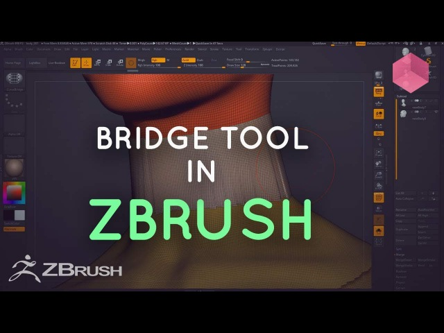 ZBrush - Using the Curve Bridge Brush