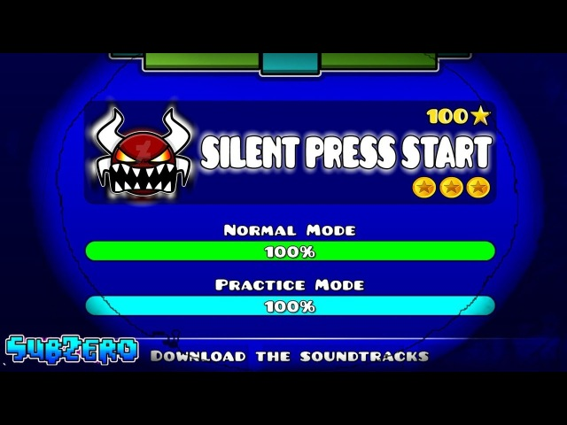[IMPOSSIBLE LEVEL] SILENT PRESS START - GEOMETRY DASH 2.11!!