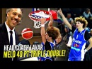 LaMelo Ball 40 POINT TRIPLE DOUBLE In LaVar's HEAD COACHING Debut! Melo Dunks It & Bows To Crowd!