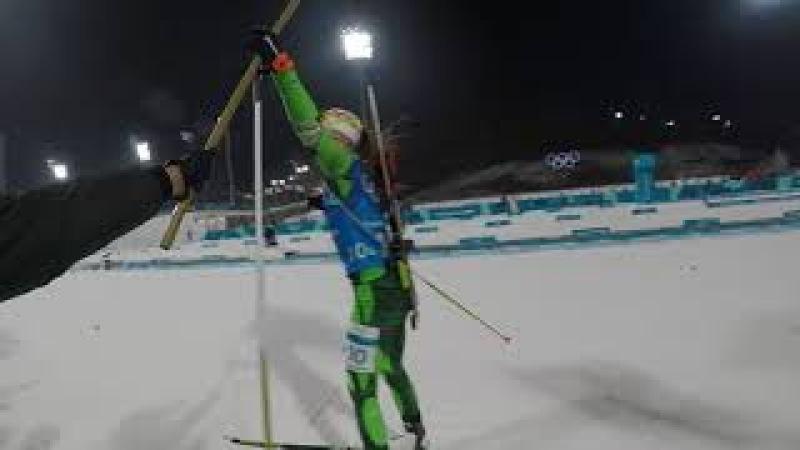Победа сборной Беларуси в женской эстафете. Взгляд с трибуны