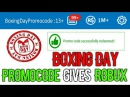 *HURRY* BOXING DAY PROMOCODE GIVES FREE ROBUX ON ON IOS PC ANDROID WORKING DECEMBER 2017