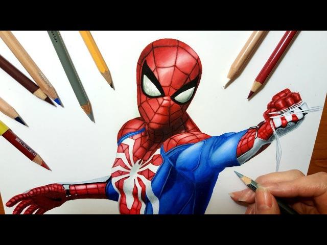 Speed Drawing: Spider-Man from PS4 PlayStation 4 Video Game   Jasmina Susak