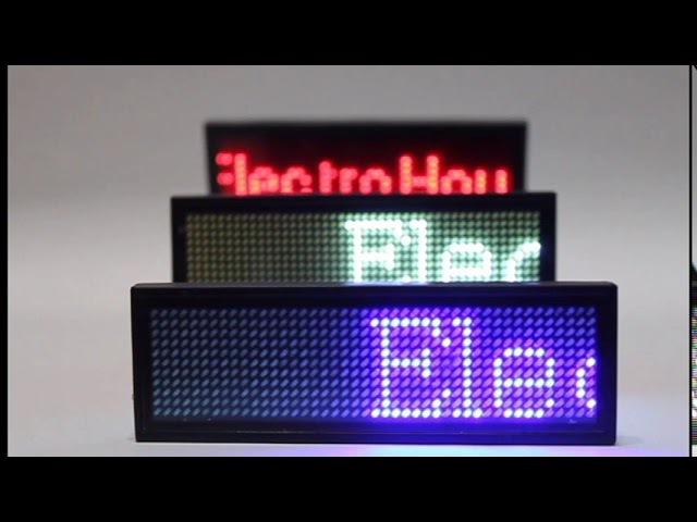 Обзор led-бейджика от компании ElectroHouse