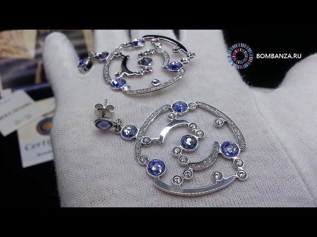 Серьги Boccadamo BLOOM, XOR215 BW/S/V. Элитная бижутерия из Италии
