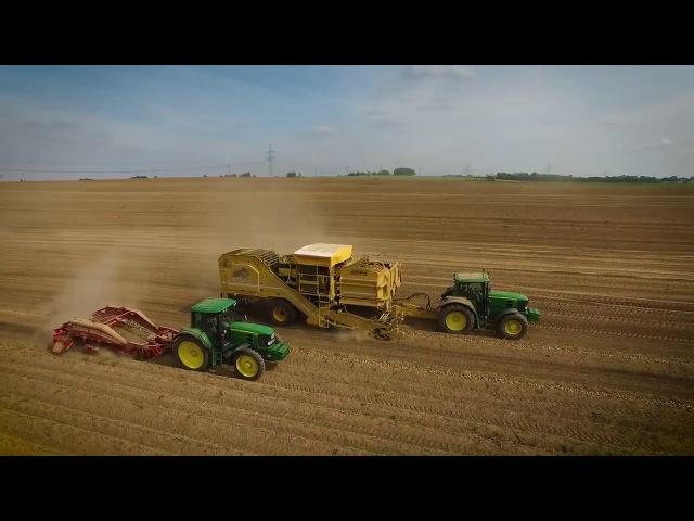 Kartoffelernte ROPA GRIMME, JOHN DEERE 6R, 7R CLAAS Axion 830 Agrar Impressionen