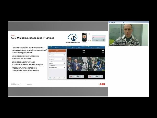 Вебинар АББ Домофонная система ABB Welcome М Подключение и настройка IP шлюза 83342 500