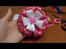 Crafts Lesson № 20 Kanzashi Hair scrunchy Hair bow of two ribbons