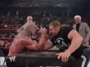 Triple H vs Big poppa pump (Scott Steiner) Arm Wrestling.