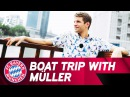 A Boat Trip With Thomas Müller 🎙🛥 | Audi Summer Tour 2017