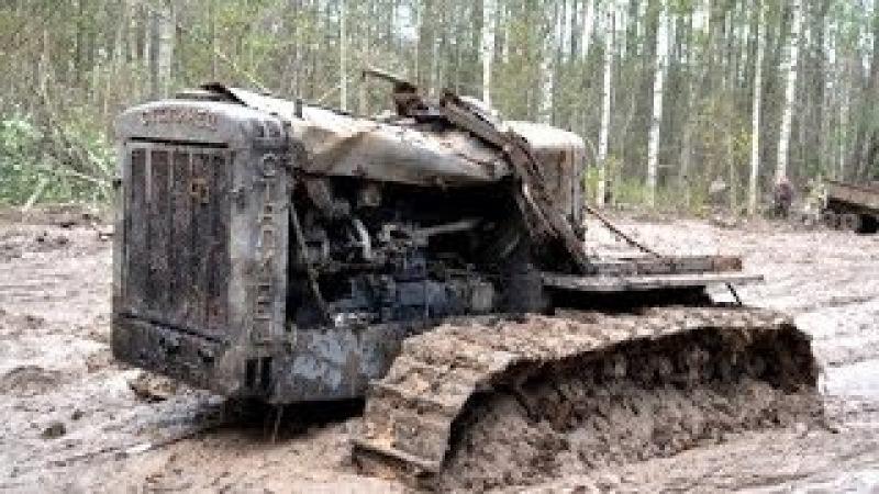 Раскопки трактора Сталинец