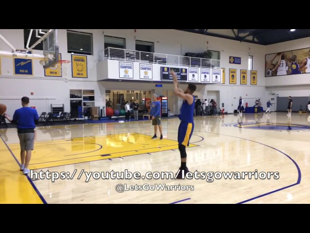 Views from practice: Durant w/ D.West, Steph Curry, Klay, full court 3on3, Iguodala