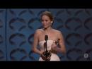 """Премия """"Оскар"""" 2013. Дженнифер Лоуренс получает награду в номинации """"Лучшая актриса"""""""