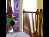 Как гимнастки передвигаются по дому ))