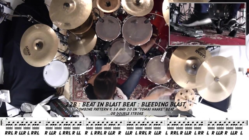 50 Shades Of Blast Beat: from simple variations to complex ones