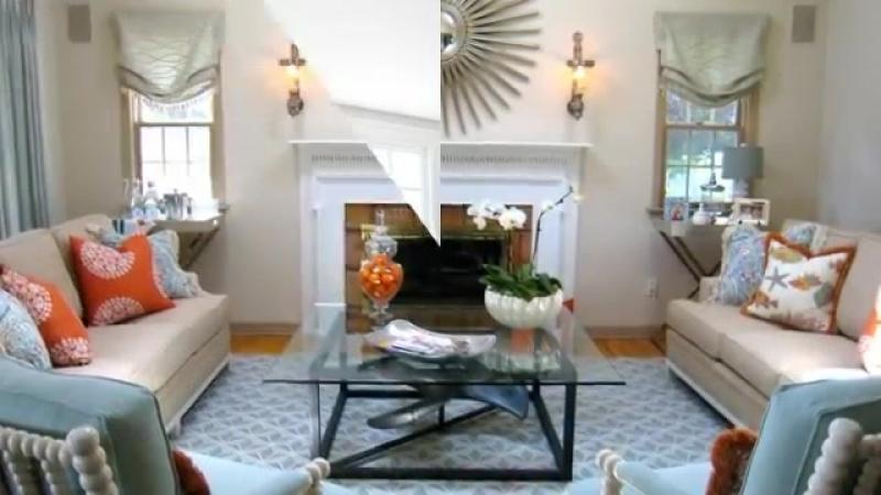 Сочетание оранжевого и голубого в интерьере Идеи дизайна интерьера