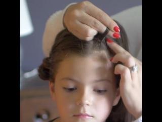 Замечательная причёска для юной красавицы