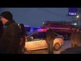 Трансляция с места крушения пассажирского самолета в Подмосковье