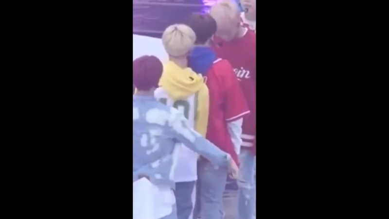 1. He wants jeongguks attention so bad 2. He tried to make him laugh because jeongguk is tired