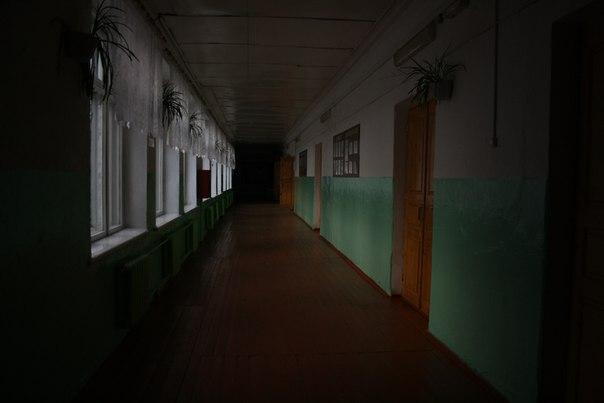 Перспективный вид на коридор