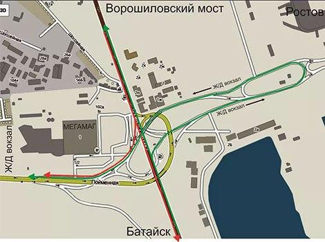 В Ростове изменится схема движения на Южном подъезде к городу