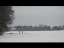 Суздальские озера. Кто купается, кто на лыжах, кто играет в снежки