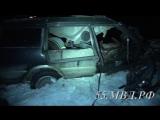 Видео с места страшного ДТП в Омском районе, в котором погибли 2 человека