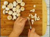 Хозяйкам на заметку.Картофельные гнезда с грибами.