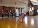 Prenatal pole fitness at 10 months pregnant