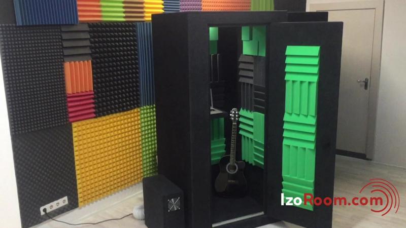 Звукоизоляционная кабина IzoRoom Standart с кастомной акустической отделкой