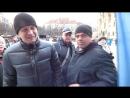 В Праге во время акции«пражский Майдан» несколько людей пояснили майданутым Киева- словами «Россия — сила» и «Крым — Наш.