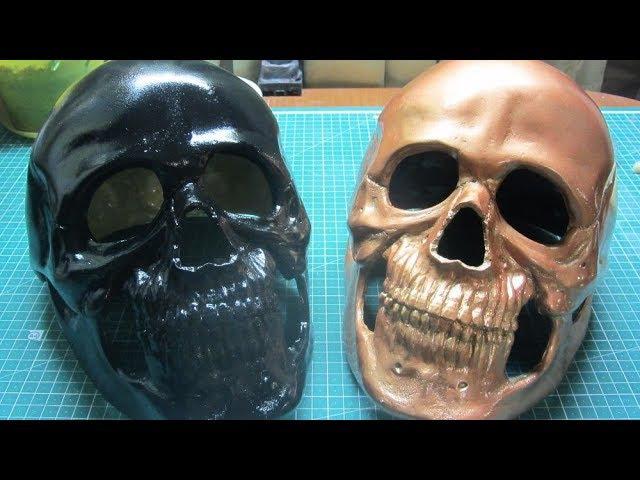 Как сделать маску ЧЕРЕП отливка под металлизацию DIY How to make a mask SKULL metallization