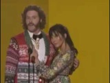 Olivia Munn &amp T.J. Miller Make Hilarious Duo While Presenting At AMAs 2016 - Watch!