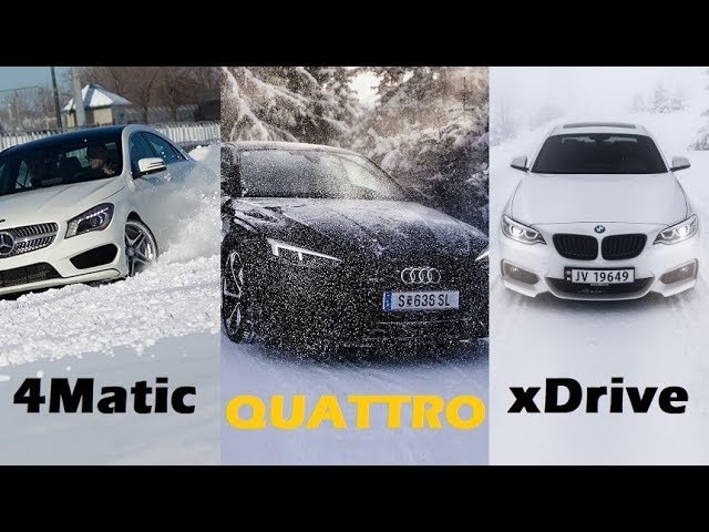 Audi Quattro vs BMW xDrive vs Mercedes 4Matic - Snow Test!VAG Kirov/43 регион