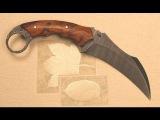 Изготовление ножа модели Карамбит из диска циркулярки ничего сложного