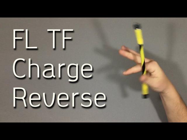 Fingerless Thumbflap Charge Reverse FL TF Charge Reverse Обучение Pen Spinning трюку