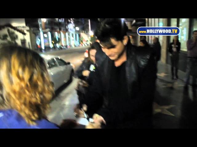 Adam Lambert Lauren Conrad leave Katsuya