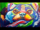 Easy pug painting | Acrylic Abstract dog painting | The Art Sherpa