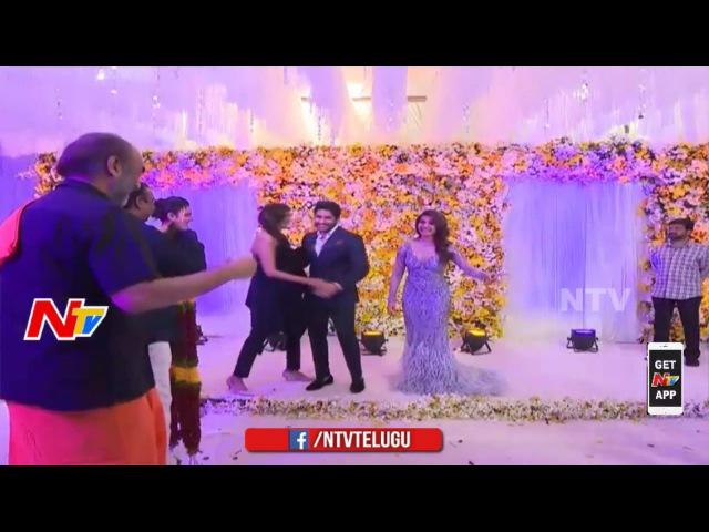 Rakul Preet Singh Manchu Lakshmi @ ChaySam Wedding Reception Naga Chaitanya Samantha