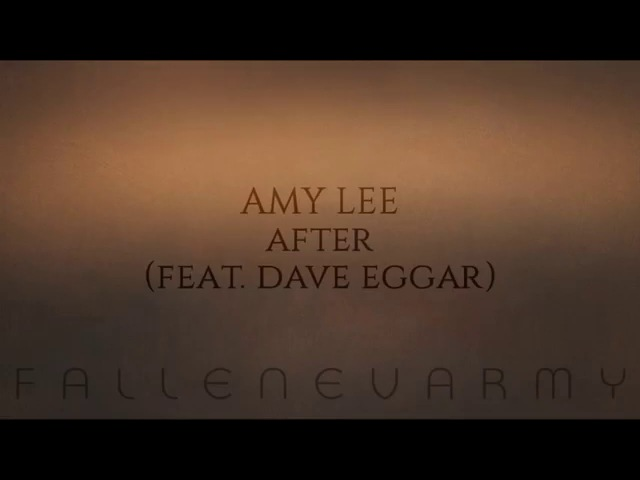 Amy Lee - After (Feat. Dave Eggar)
