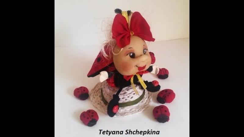 3.muñeca de tela-Mariquita.Игрушка из ткани .Божья коровка. Doll.