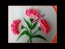 Hand embroidery Carnation flowers Step by step Flores de clavel