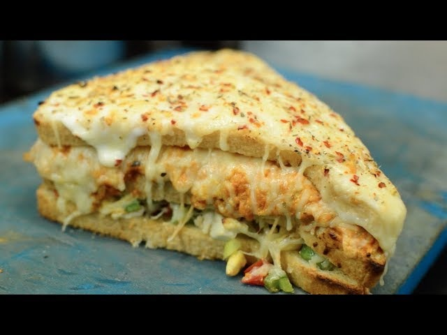 BIG TRIPLE LAYER Melting Cheese Sandwich | UNLIMITED CHEESE Pasta | Indian Street Food