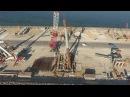 Текущий статус строительства Крымского моста. Видео с коптера