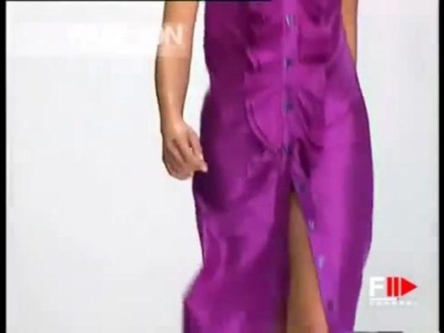 Ruffle Button Dress - Enrico Coveri Spring 1997