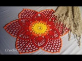 Toalha Flor croch