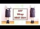 DIY Wrap Midi Skirt DIYファッション*チュートリアル ラップスカートの作り方 / Sewing Tutorialㅣmadebyaya
