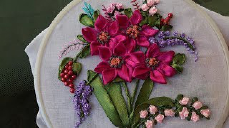 Hand embroidery Designs Ribbon embroidery stitches for beginners