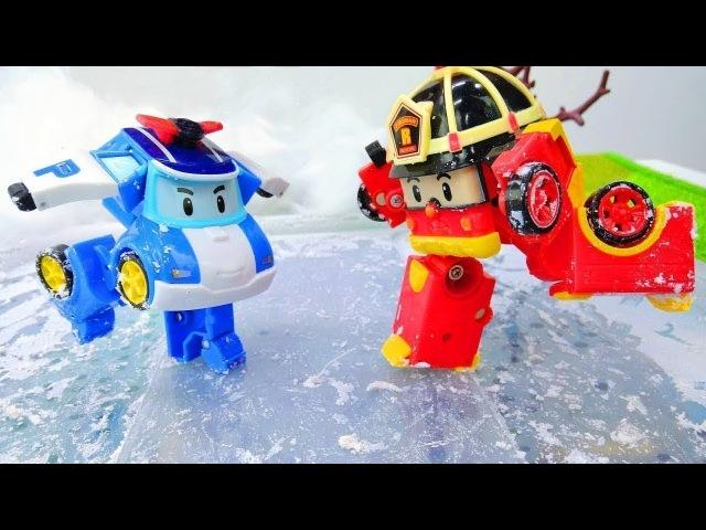 Robocars e il pattinaggio sul ghiaccio - Giochi educativi per bambini