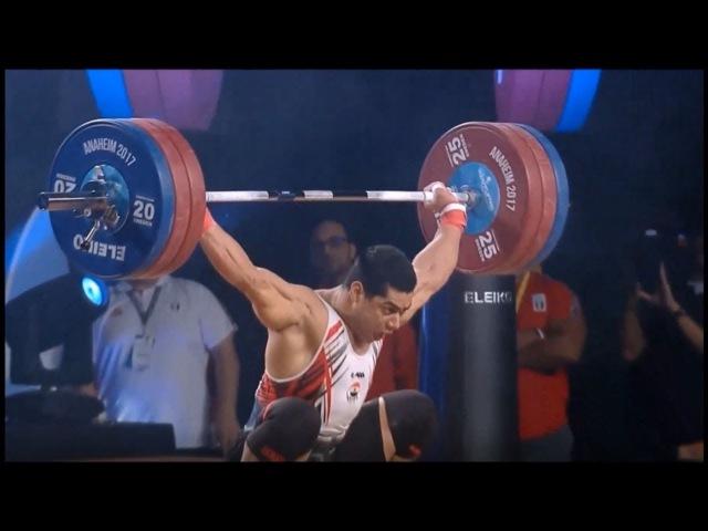 MAHMOUD Mohamed (EGY) -77kg 1st Place Total - 361 kg (165, 196) 2017 WWC