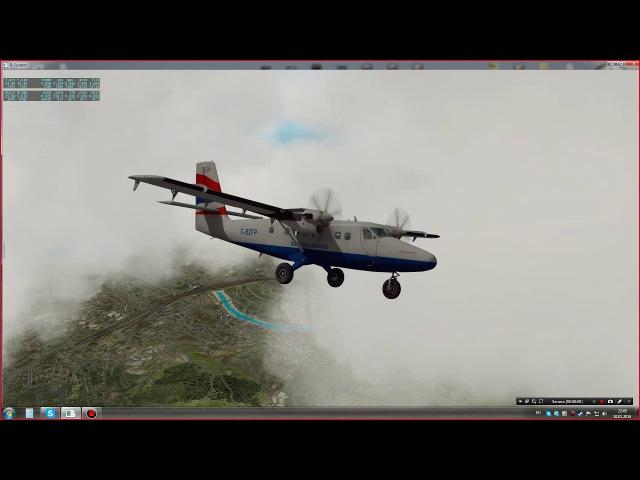 Первый полёт на De Havilland Canada DHC-6 Twin Otter по маршруту Геноа (Genoa) - Милан (Milan)